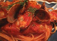 料理:あさりトマトソースアップ@ハカタネーゼ・エノテカ・リツ・清川