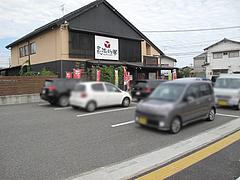 24外観:駐車場18台分@長浜将軍・ラーメン・那珂川店