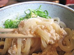 19ランチ:とりたま(鶏釜玉うどん)そぼろ@讃岐うどん大使・福岡麺通団・薬院