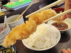 料理:22cm大エビの天ぷら270円@だるまの天ぷら定食・吉塚本店