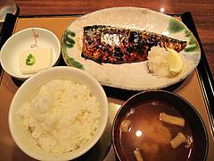 料理:サバの塩焼定食590円@やよい軒・天神2丁目店