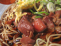 料理:かしわ蕎麦のアップ@三ケ森蕎麦・舞鶴