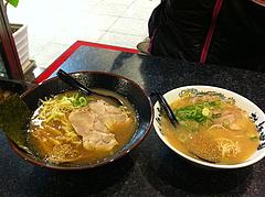 11ランチ:醤油豚骨と豚骨@拉麺帝国本店・サンセルコ・ラーメン