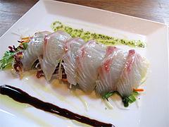 料理:鮮魚のカルパッチョ980円@KILROY'S(キルロイズ)・天神
