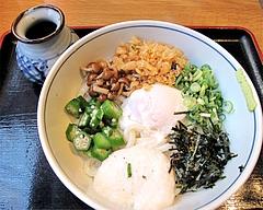 料理:スタミナぶっかけ(冷)610円@ウエストうどん渡辺通り店