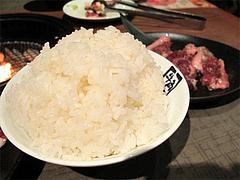 料理:ごはん特盛り410円@牛角・東比恵店