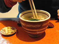 料理:紅白白玉雑煮の宝探し@白玉屋新三郎・桜坂店・福岡
