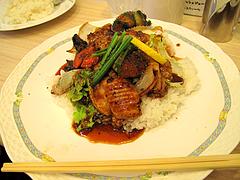 料理:牛ホルモン焼丼680円@小さな洋食屋おがわ・警固