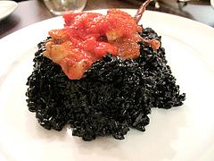 料理:イカスミのリゾット@BUTCHER・炭火焼フレンチ・ブッチャー・平尾