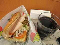 料理:ターキーブレスト390円+ポテト+ドリンク@SUBWAY(サブウェイ)天神昭和通り店・福岡