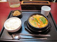 ランチ:スンデゥブ・チゲ定食800円@韓国家庭料理ソウル亭・高砂