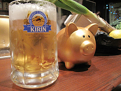 4居酒屋・焼鳥:生ビール@いきさん牧場・ぶたの王様・大手門