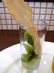 25ランチ:デザート・キーウィーのコンポート@食堂シェモア・フレンチ・イタリアン・洋食