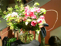ヒビヤフラワーアカデミー フラワーアレンジメント作品展2008 デモンストレーション2