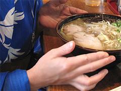 料理:ラーメン熱いです@博多長浜ラーメンいってつ・大橋