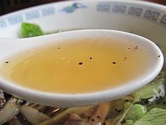 料理:ネギ汁そば(葱油湯麺)スープ@中華料理・点心楼・台北・若久