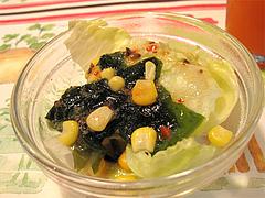 料理:メンオムランチのコーンサラダ@五穀けやき通り店・福岡市中央区赤坂