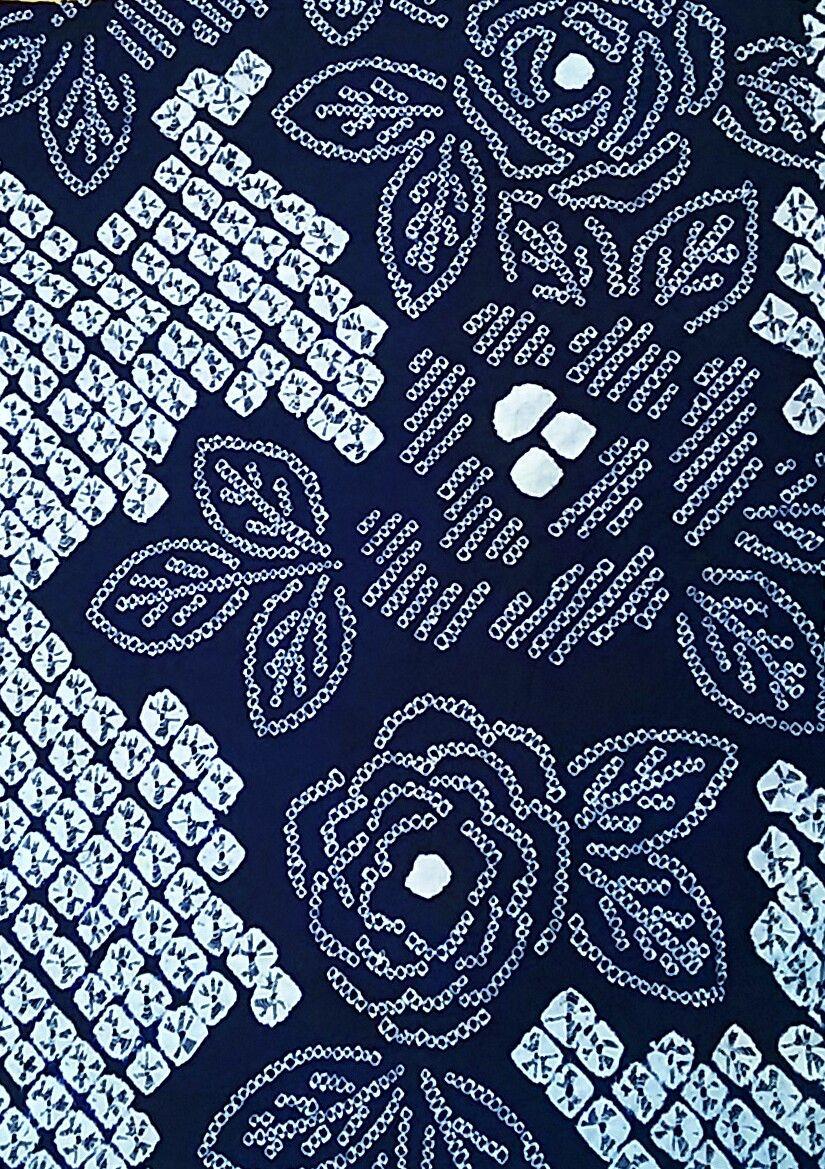 ぶどうの木の小りす  有松鳴海絞り~アンティークな薔薇柄~コメント                kimono_risu