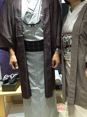 お客様の着姿 大島紬 男性 着物