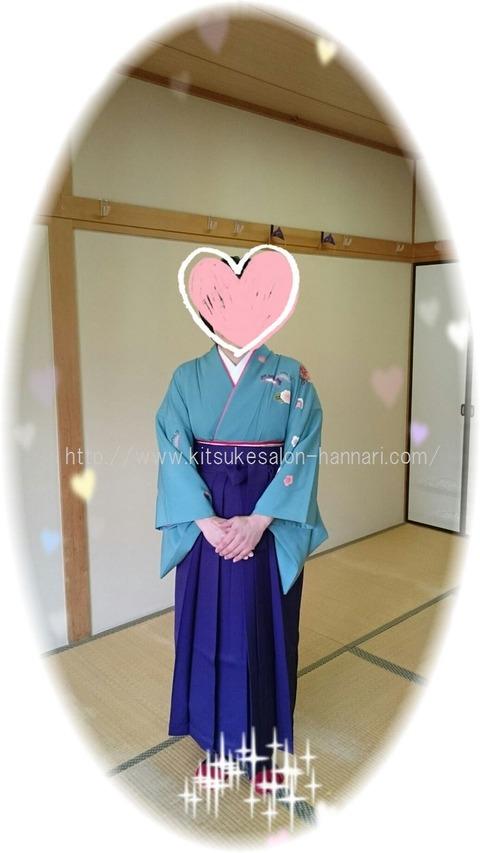文京区本郷出張着付け・小学校卒業式女袴・前姿A