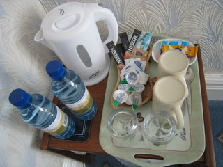 mineral waters & beverages in the room