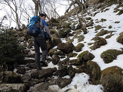 弥山の残雪