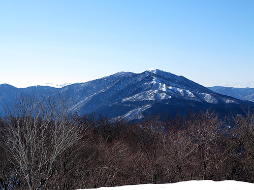 蛇谷ヶ峰より武奈ヶ岳を望む