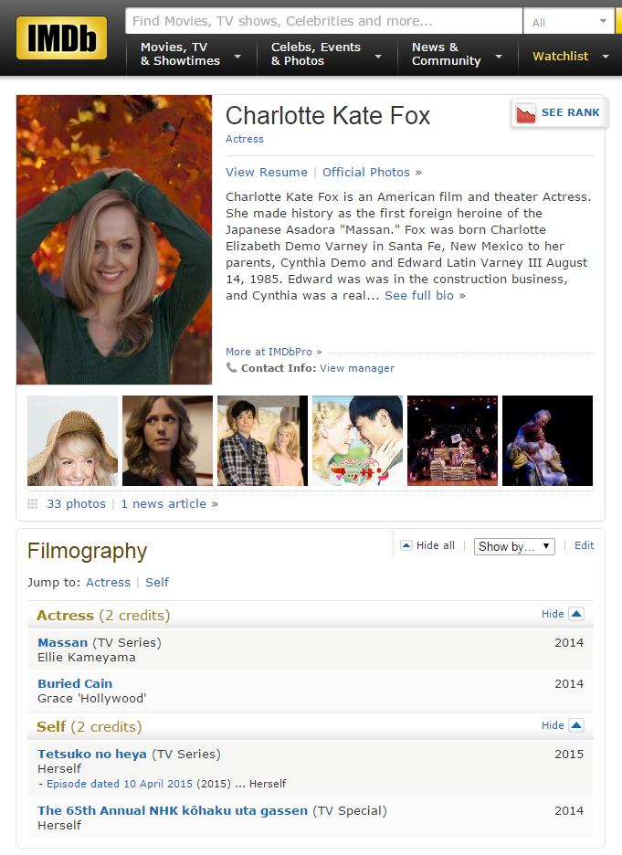 Charlotte Kate Fox   IMDb