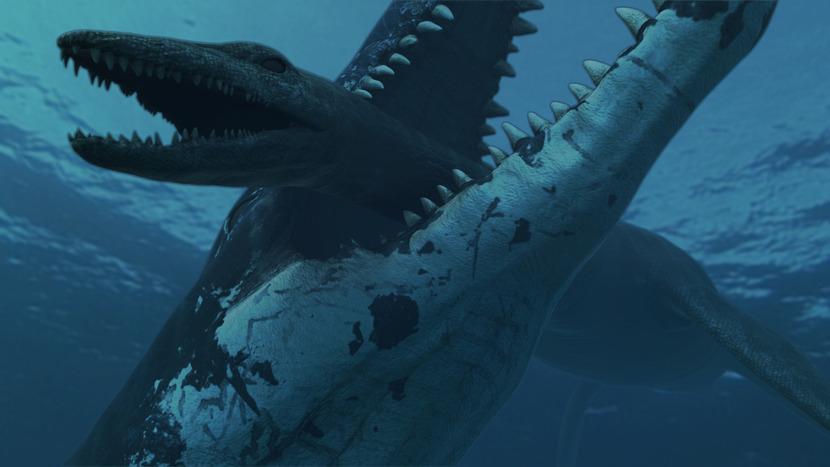 pliosaur-crushing-down-on-plesiosaur-AtlanticZoo