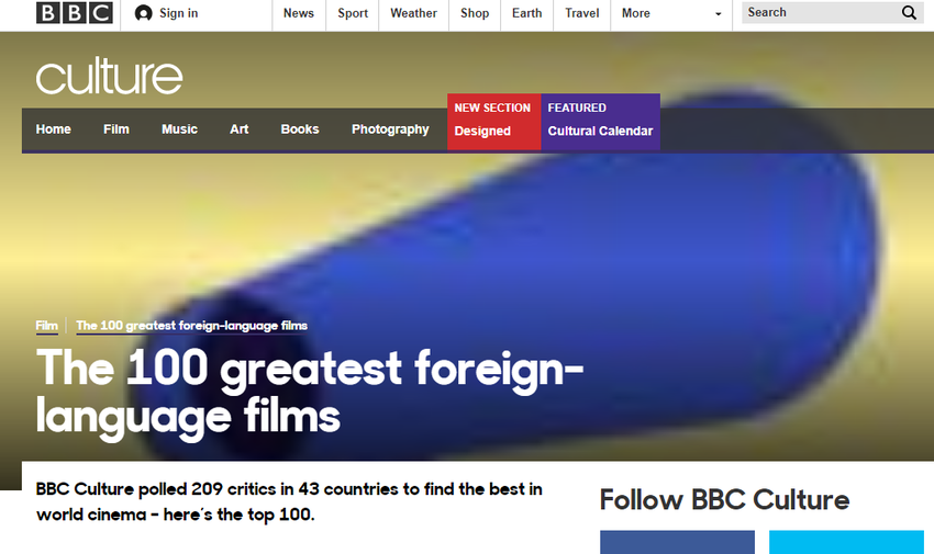 BBC   Culture   The 100 greatest foreign language films