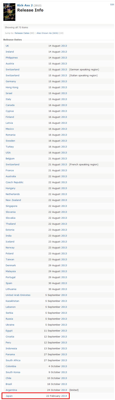 Kick Ass 2  2013    Release Info   IMDb