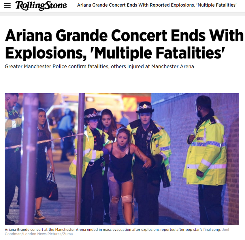 Explosions Reported at Ariana Grande Concert in Manchestere