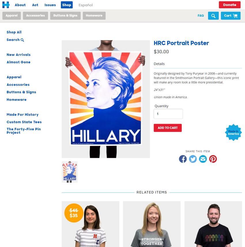 HRC Portrait Poster   The Shop