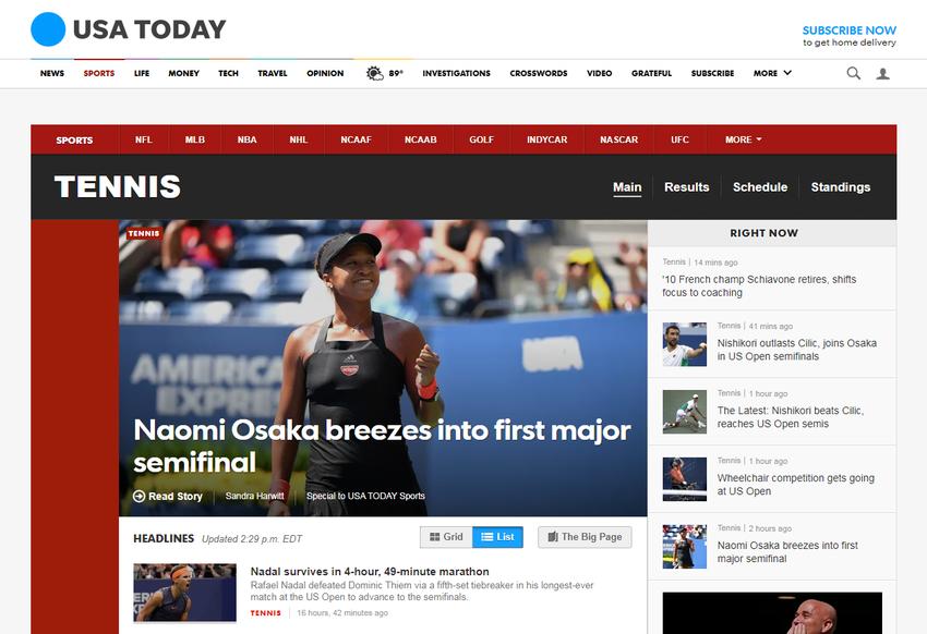 TENNIS News  USA TODAY