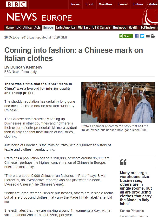 BBC News   Coming into fashion
