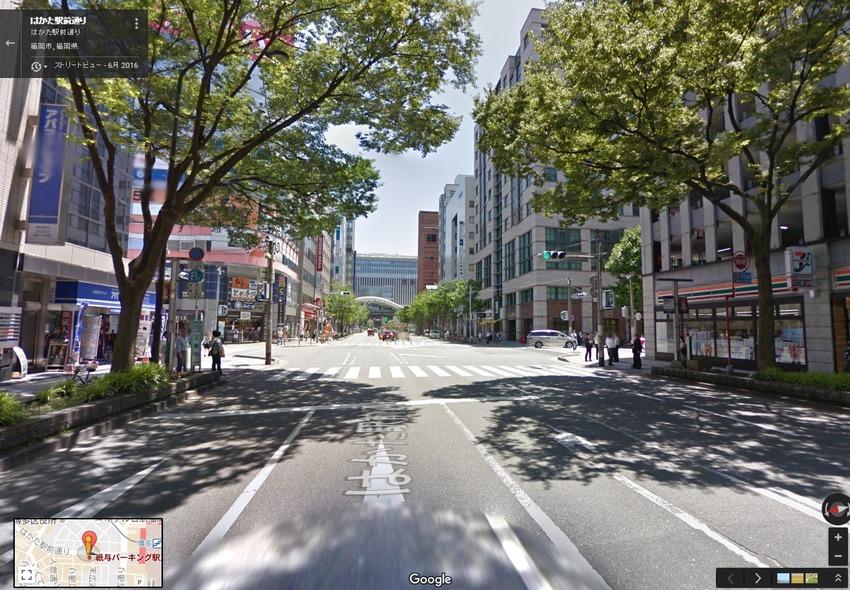 はかた駅前通り   Google マップ