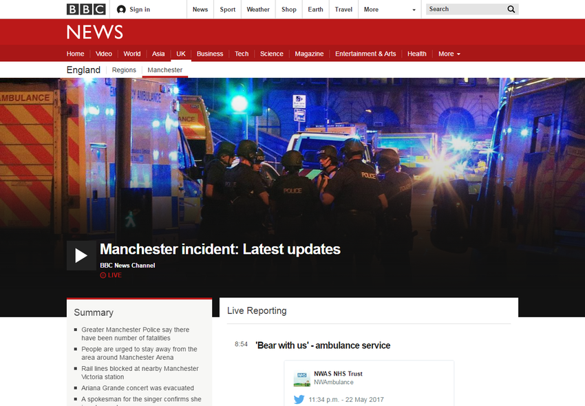Manchester incident  Latest updates   BBC News