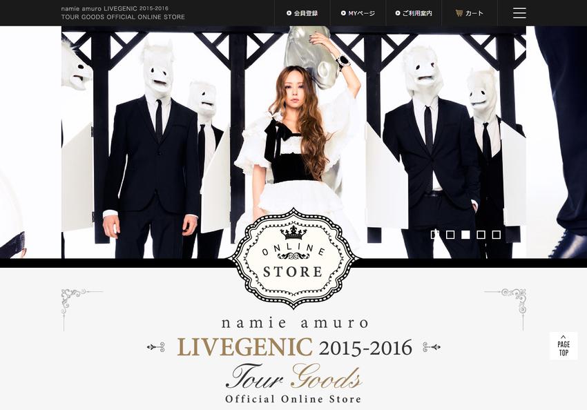 namie amuro LIVEGENIC 2015 2016 TOUR GOODS OFFICIAL ONLINE STORE