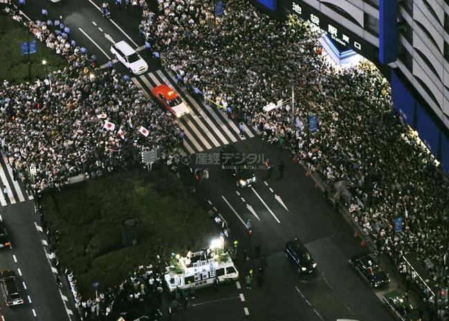 2009.08.29 池袋駅東口 麻生太郎