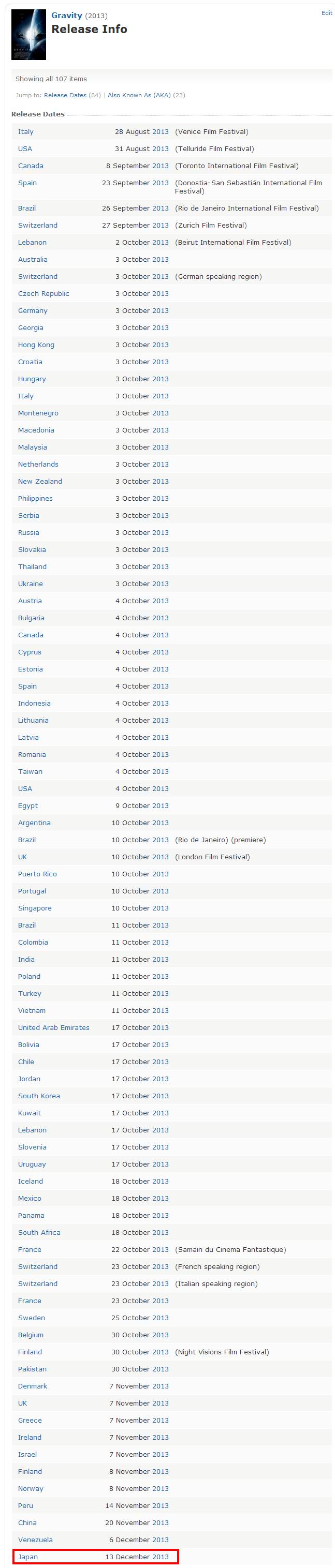 Gravity  2013    Release Info   IMDb