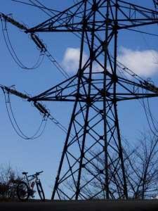 岳城若杉米の山鉄塔