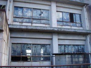 旧大野木場小学校窓ガラス