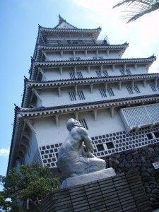島原城銅像1