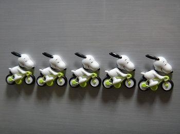 スヌーピー自転車マグネット4