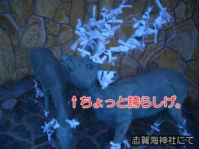 志賀海神社のブロンズジカ
