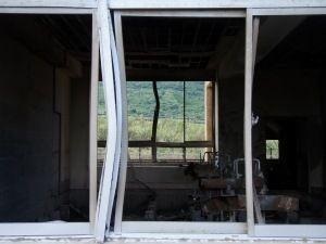 旧大野木場小学校内部