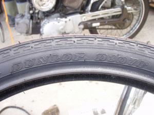 タイヤ交換6・DUNLOP D107F