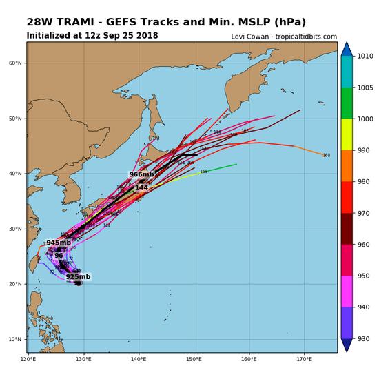 【悲報】猛烈な勢力の台風24号チャーミーが日本列島を直撃するのが確定してしまう!!