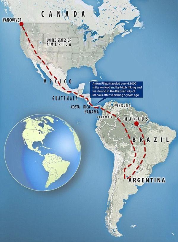 【!?】5年前に失踪したカナダ在住の男性 なぜかブラジルのアマゾンで発見される