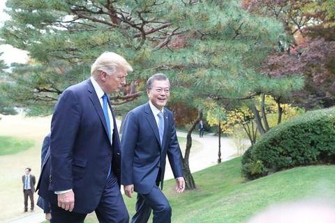 【朗報】トランプ大統領、大満足で韓国を去る